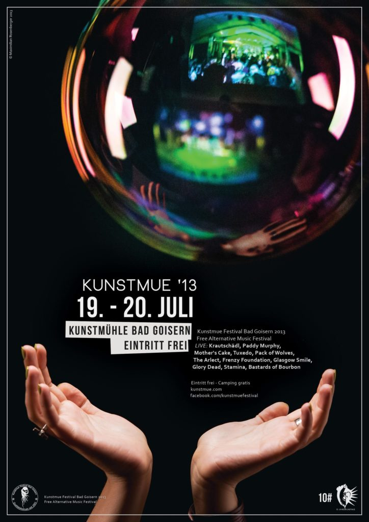 Plakat für Kunstmue Festival Maximilian Rosenberger