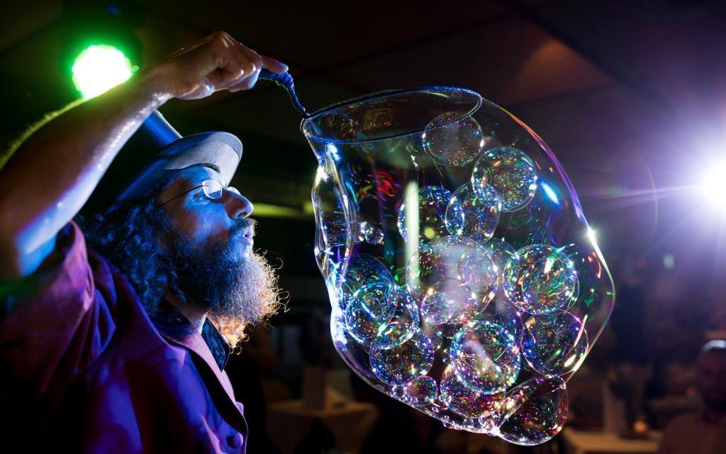 Seifenblasen Bühnenshow Schlossbergball Graz